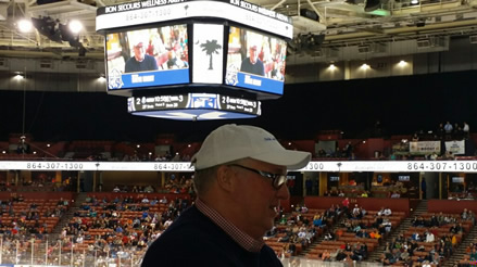 Steve Grant honored at Greenville Road Warriors Game